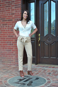 Sandy Stripes Slacks