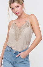 Load image into Gallery viewer, Lace Cami Adjustable Straps