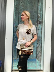 Pick a Side Ladies Leopard Top