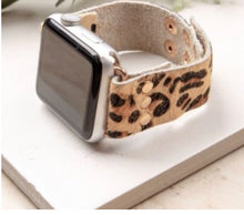 Load image into Gallery viewer, Leopard Leather Hair on Hide Apple Watchbands