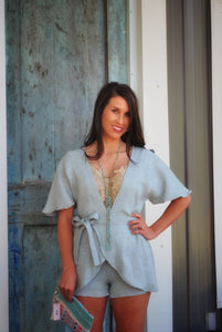 Those Baby Blues Flowy Romper