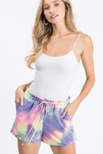 Load image into Gallery viewer, Plus Tie Dye Cotton Candy Lounge Pocket Shorts Made in USA