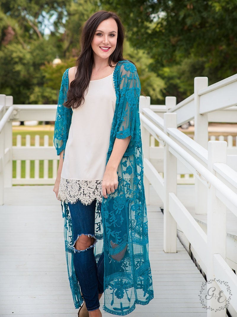 Love Your Lace Duster  - Slate