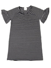 Load image into Gallery viewer, Stripe it Up Black & White Dress