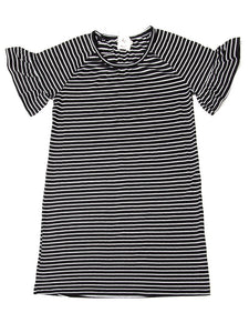 Stripe it Up Black & White Dress