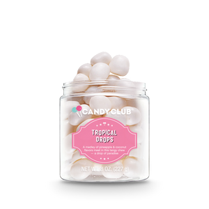 Candy Club Tropical Drops Pina Colada Flavor Candy
