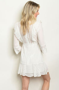 Lace Sweetness Long-Sleeved Sundress