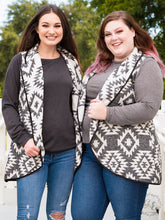 Load image into Gallery viewer, Gray Aztec Wooly Vest