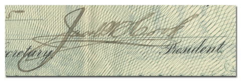 Jacob Hook's Signature