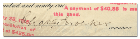 Charles Crocker's Signature