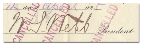 William Webb's Signature