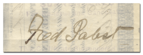 Frederick Pabst's Signature