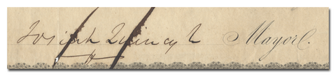 Josiah Quincy Jr.'s Signature