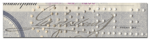 George Widener's Signature