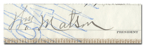 William Matson's Signature