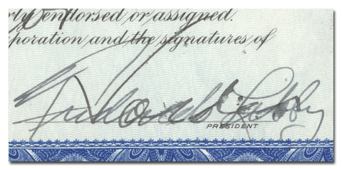 Frederick Libby's Signature
