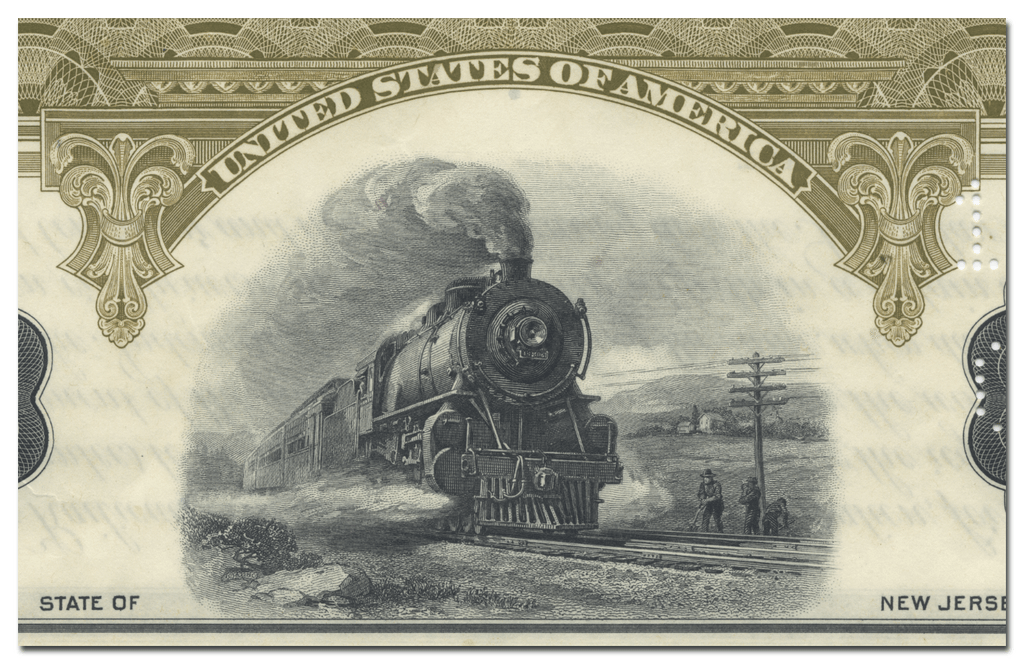 United New Jersey Railroad and Canal Company Bond Certificate
