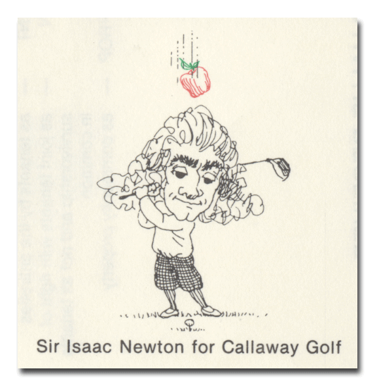 Callaway Golf Company Stock Certificate (Isaac Newton Playing Golf)