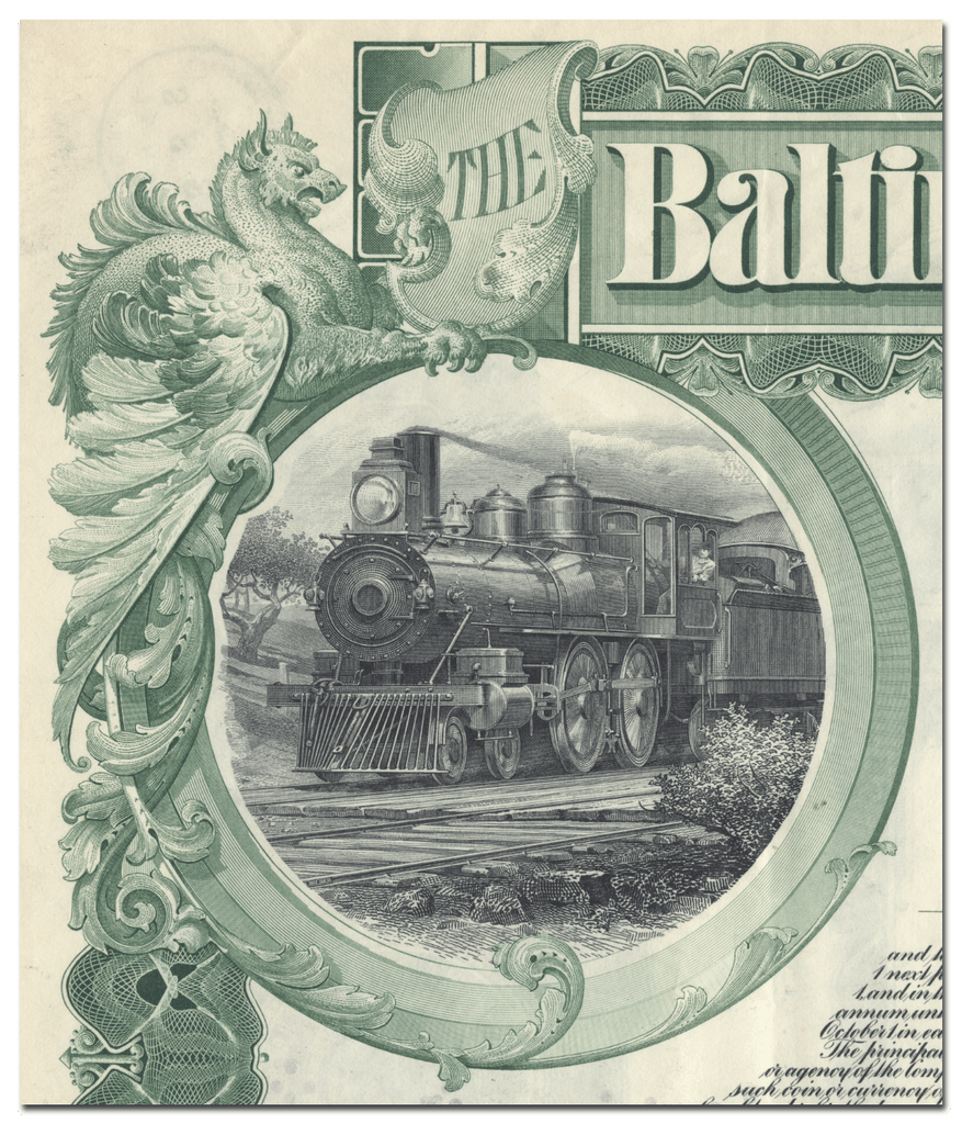 Baltimore and Ohio Railroad Company Bond Certificate