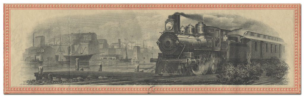 Mobile, Jackson and Kansas City Railroad Company Stock Certificate