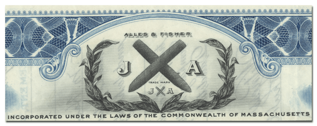 Alles & Fisher, Inc. Stock Certificate