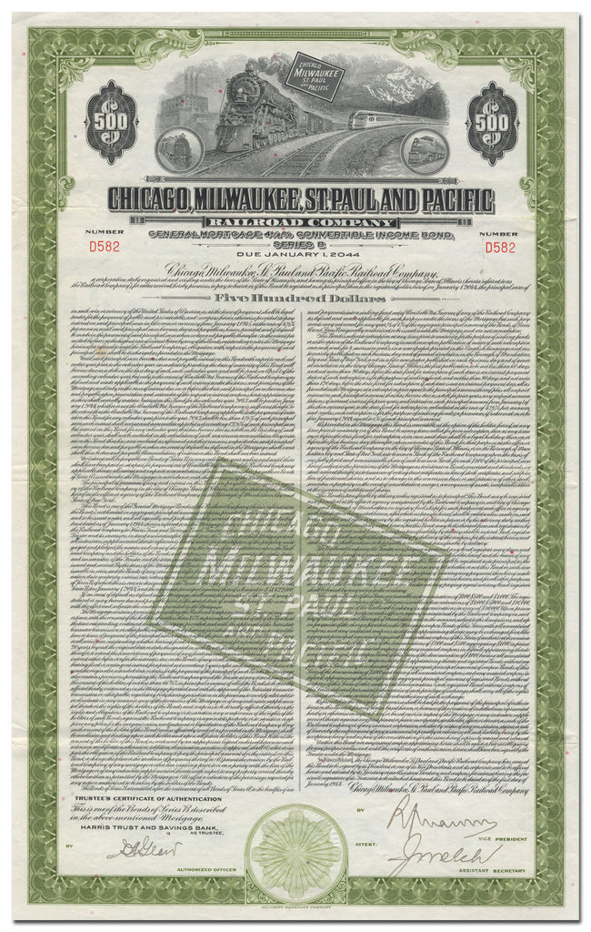 Chicago, Milwaukee, St. Paul and Pacific Railroad Company Bond Certificate