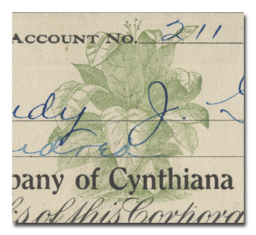 Burley Tobacco Company of Cynthiana Stock Certificate