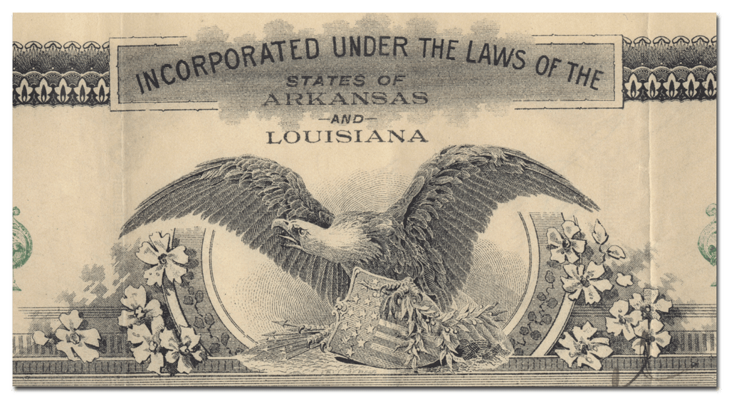Arkansas Southern Railroad Company Stock Certificate