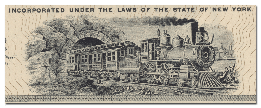 New York and Long Island Railroad Company Stock Certificate