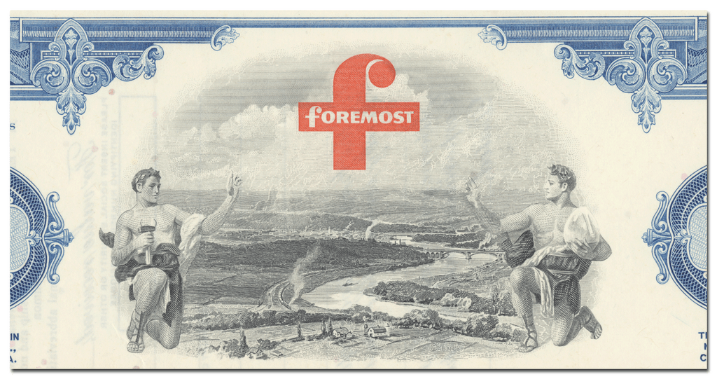 Foremost Dairies, Inc. Stock Certificate