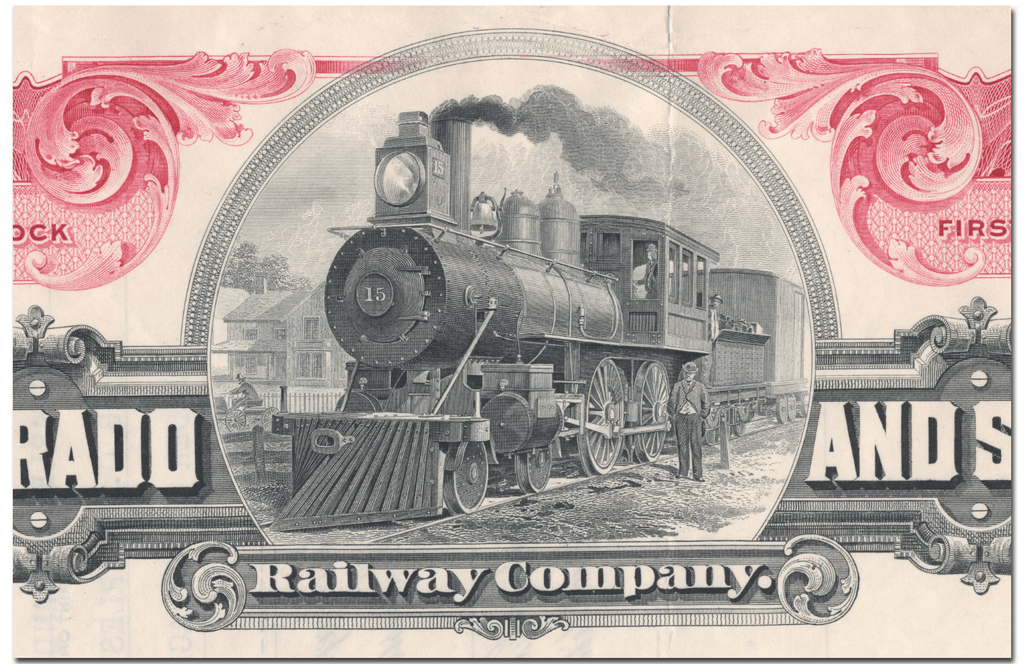 Colorado and Southern Railway Company Stock Certificate