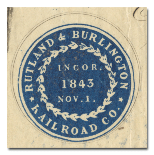 Rutland & Burlington Rail-Road Company Stock Certificate