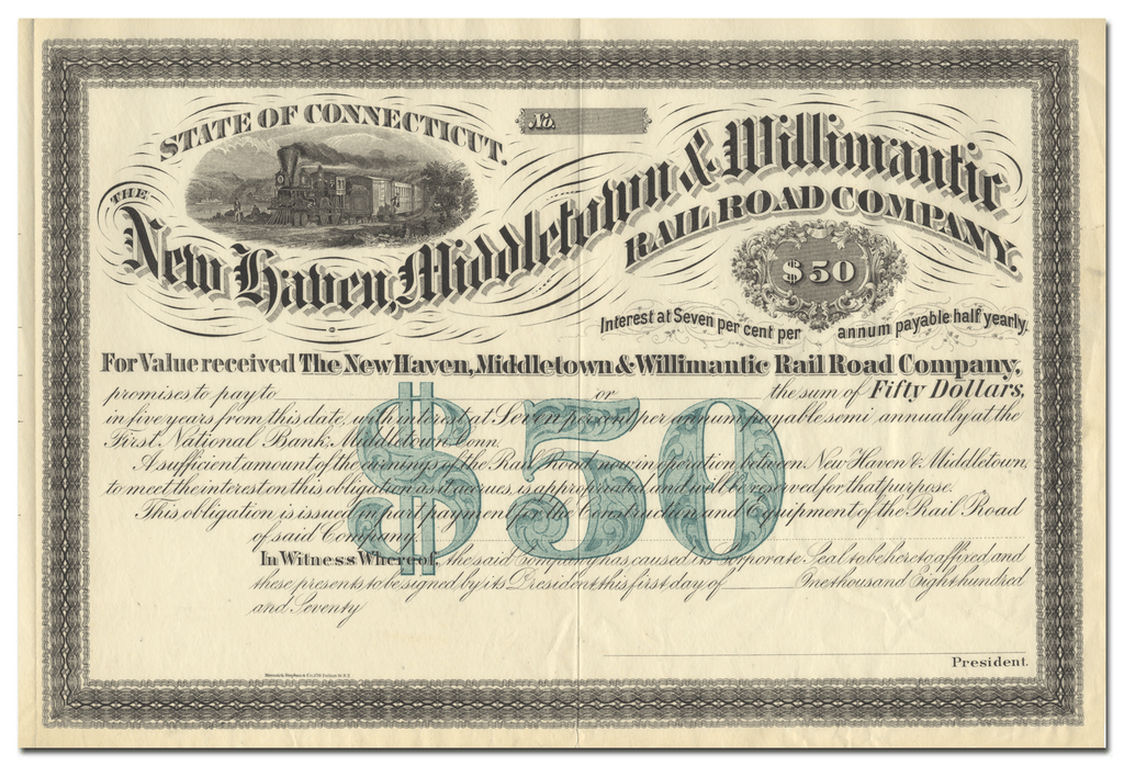 New Haven, Middletown & Willimantic Rail Road Company