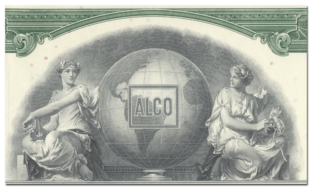 Alco Products, Incorporated Stock Certificate