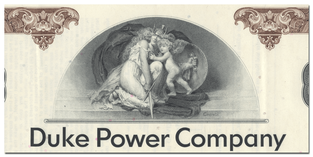 Duke Power Companyu Bond Certificate