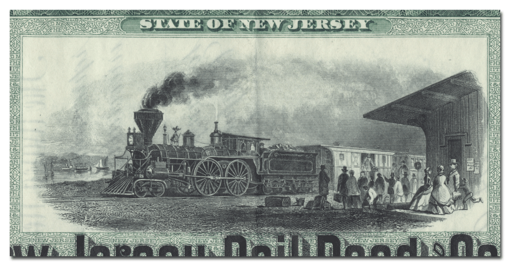 United New Jersey Railroad and Canal Company Stock Certificate
