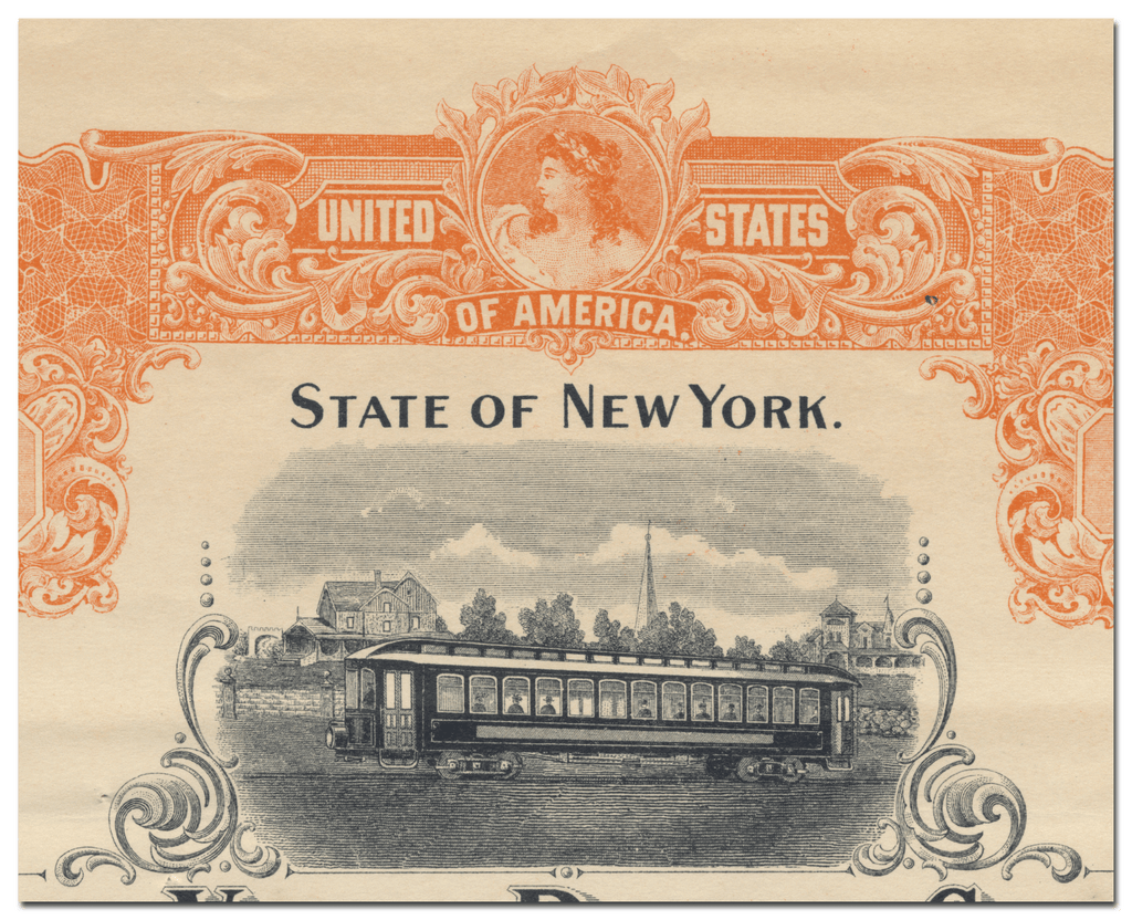 Hudson Valley Railway Company Bond Certificate