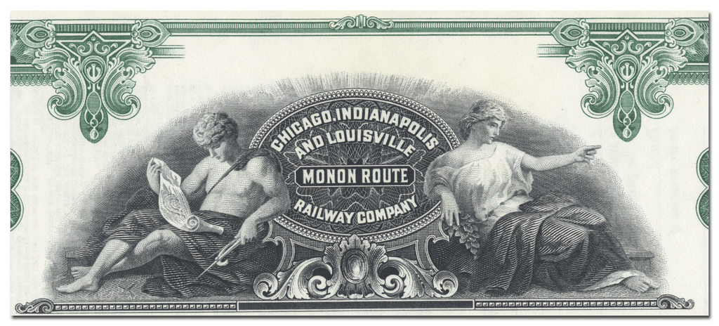 Chicago, Indianapolis and Louisville Railway Company Stock Certificate