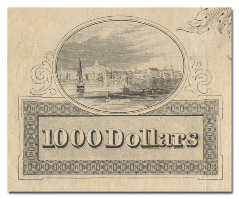 City of Boston Water Scrip Certificate