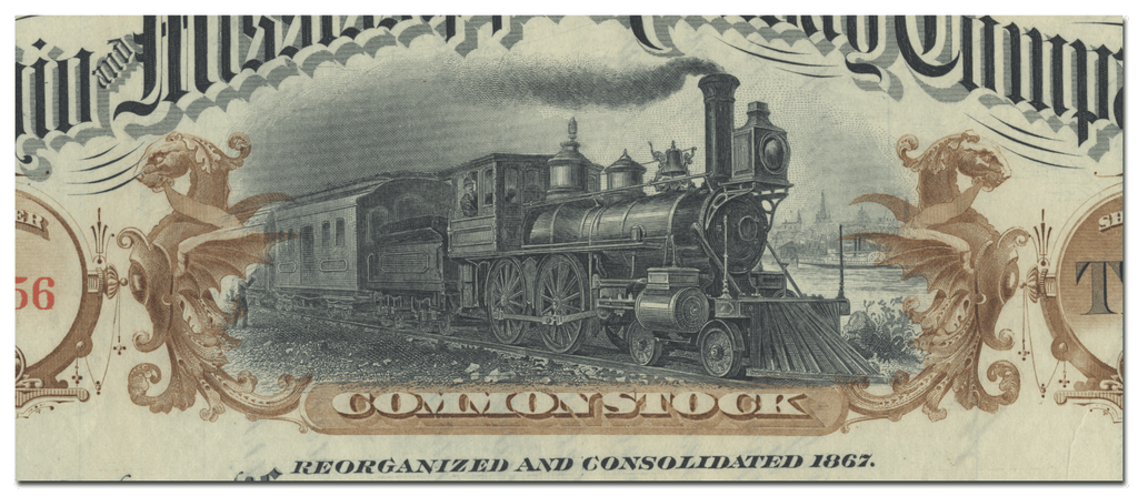 Ohio and Mississippi Railway Company Stock Certificate