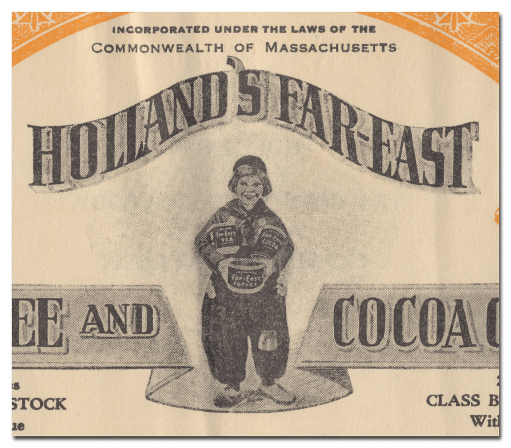 Holland's Far-East Tea, Coffee and Cocoa Corporation Stock Certificate