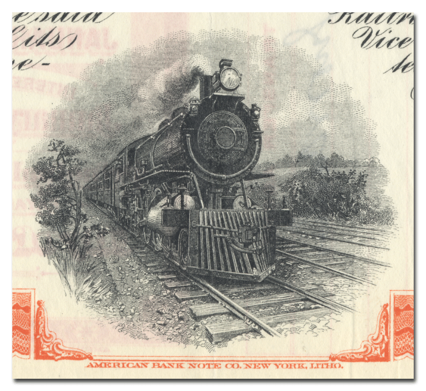 Yazoo and Mississippi Valley Railroad Company Bond Certificate