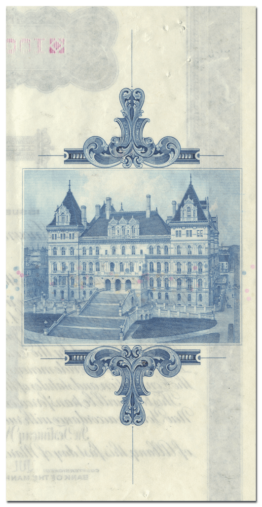 State of New York War Bonus Bond Certificate (Back)