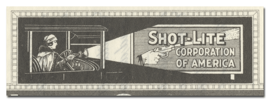 Shot-Lite Corporation of America Stock Certificate