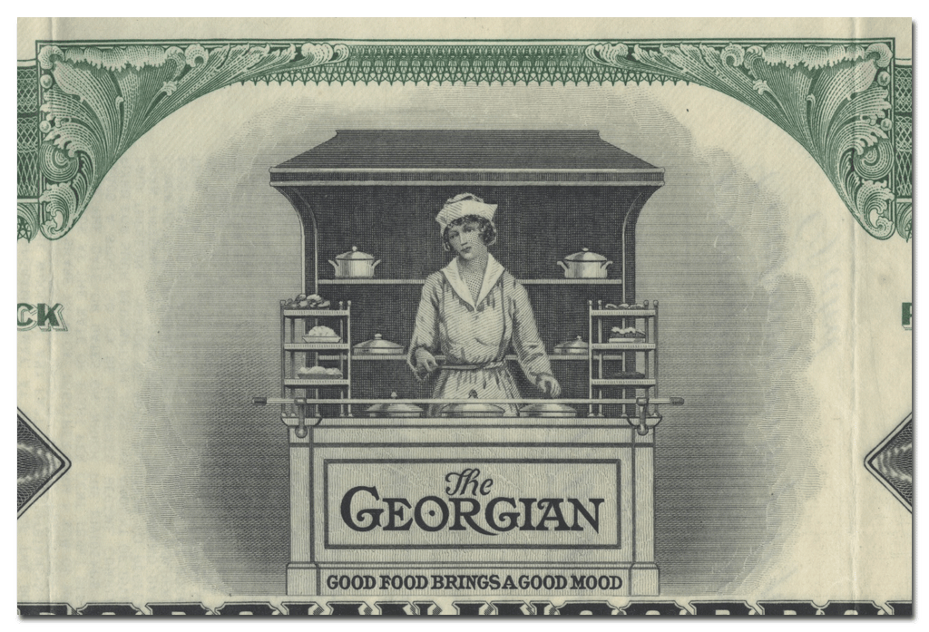 The Georgian Incorporated Stock Certificate