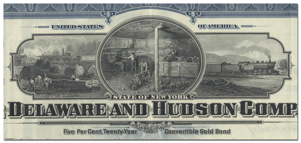 Delaware and Hudson Company Bond Certificate