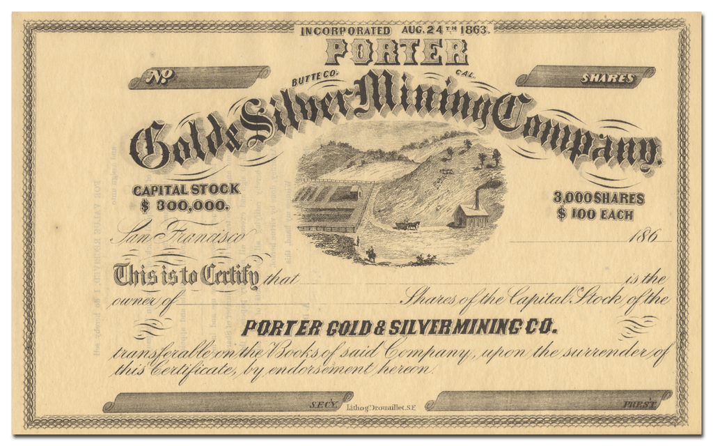 Porter Gold & Silver Mining Company