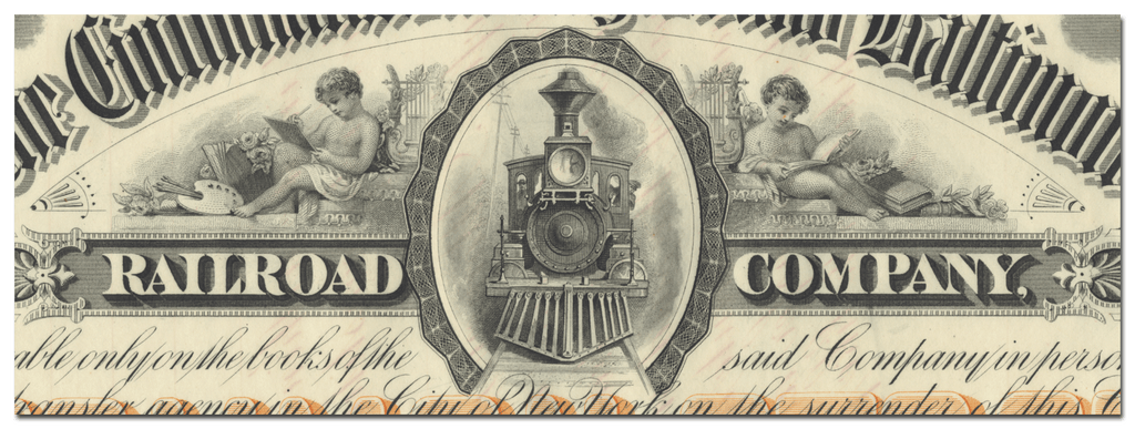Cincinnati, Washington and Baltimore Railroad Company Stock Certificate Signed by Orland Smith