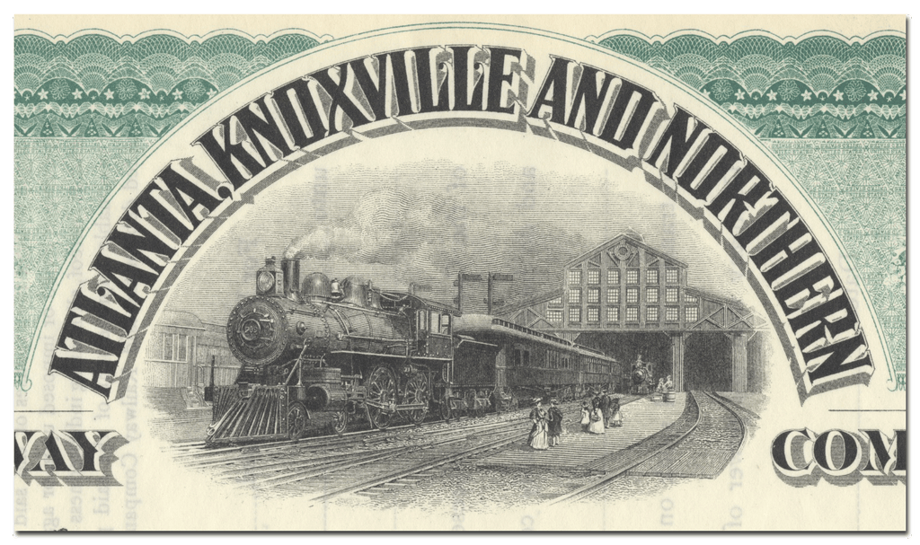 Atlanta, Knoxville and Northern Railway Company Stock Certificate