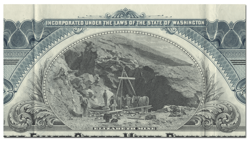 Hubbard-Elliott Copper Mines Development Company of Alaska Stock Certificate